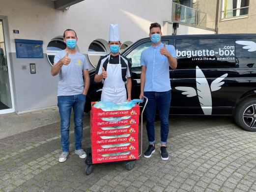 BB offre 70kg d'asperge à l'EHPAD «La Voute étoilée» de Bischheim